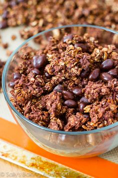 3 cups (240g) old-fashioned rolled oats 3/4 cup (106g) peanuts (or any nut) 3 Tablespoons (25g) unsweetened cocoa powder 1/2 cup (125g) crea...