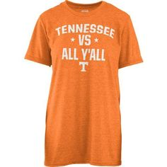 Three Squared Women's University of Tennessee Vs. All Y'all T-shirt (Orange Light, Size X Large) - NCAA Licensed Product, NCAA Women's at Academy S...