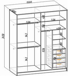 Шкаф в прихожую чертежи Wardrobe Interior Design, Wardrobe Door Designs, Wardrobe Design Bedroom, Closet Designs, Wardrobe Cabinets, Bedroom Wardrobe, Wardrobe Closet, Bedroom Cupboard Designs, Bedroom Cupboards