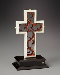 The Unity Cross® Limited Edition Ivory and Copper Leaf