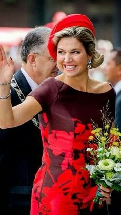 Wednesday 1th October 2014; Queen Maxima attended the opening of the Markthal (Markethall) in Rotterdam. Fashion Queen Maxima is wearing a Natan dress and Miu Miu shoes hat from Fabienne Delvigne #QueenMaxima #Natan #EdourdVermeulen #dress #MiuMiu #shoes #hat #FabienneDelvigne #koninginMaxima #Markthal #Markethal #Rotterdam