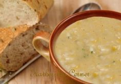 Cream of potato soup: we make this in our Vitmix and add bits of bacon - yummmm
