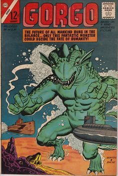 Gorgo #14 (1961) August 1963    Charlton Comics Group   Grade F/VF