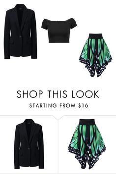 """Blazer line"" by hazelwoodnaomi on Polyvore featuring Lands' End and Alice + Olivia"