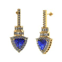 Hold this adorable pair of #Tanzanite #Earings for just $2215.99.