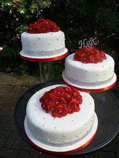 Tortas+de+Boda+Blanco+y+Rojo+8.jpg (299×399)
