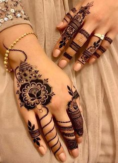 Browse the latest Mehndi Designs Ideas and images for brides online on HappyShappy! We have huge collection of Mehandi Designs for hands and legs, find and save your favorite Mehendi Design images. Arabic Bridal Mehndi Designs, Full Hand Mehndi Designs, Mehndi Designs For Girls, Mehndi Designs For Fingers, Beautiful Henna Designs, Latest Mehndi Designs, Henna Tattoo Designs, Mehandi Designs, Hena Designs