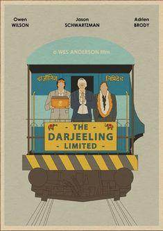 The Darjeeling Limited minimalist movie poster