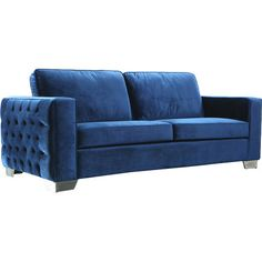 Stylist's Tip: This velvet sofa is truly a statement piece that'll add luxe style to any decor. Soften its elegant feel with bold, patterned pillows to creat...