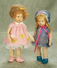 Other People's Lives: 333 An All-Original Italian Felt Character Girl,300 Series,by Lenci