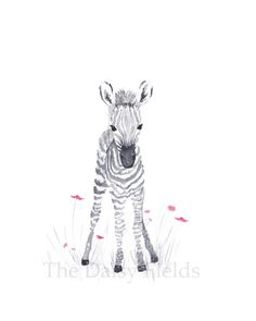 Baby Girl Nursery Decor Zebra Giraffe Elephant by TheDaisyFields