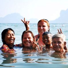 #tbt swimming in the Andaman Sea with Thai friends