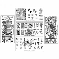 Bundle Monster Naughty XL Nail Art Stamping Plates - Basic Instinct Collection >>> See this great product. America Nails, Nails Plus, Bundle Monster, Nail Art Stamping Plates, Basic Instinct, Nail Designs Pictures, Nail Supply, Pretty Hands, Nail Games