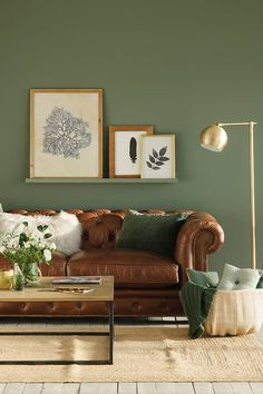 gorgeous living room color schemes to make your room cozy 22 ~ my. - Kate H - gorgeous living room color schemes to make your room cozy 22 ~ my. gorgeous living room color schemes to make your room cozy 22 ~ my. Living Room Green, Green Rooms, Home Living Room, Olive Living Rooms, Barn Living, Colourful Living Room, Apartment Living, Living Room Color Schemes, Paint Colors For Living Room