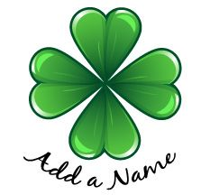 Add-A-Name Four Leaf Clover Temporary Tattoo. We have a large selection of Add-A-Name Temporary Tattoos to choose from at SexyTemporaryTattoos.com