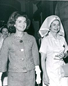 Jacqueline Kennedy and Lady Bird Johnson