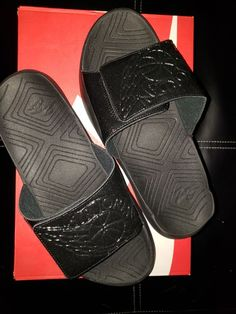 090a47256ec4 Brand New Nike Air Jordan Hydro 7 VII Slides BLACKED OUT AA2517-010 Men s SZ