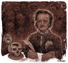 Edgar Allan Poe, Illustration Art, Painting, Edgar Allen Poe, Painting Art, Paintings, Drawings
