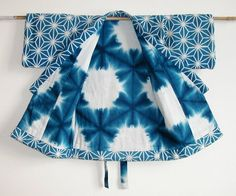 Shibori jacket. equilateral triangle fold with reserved spaces