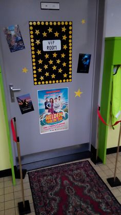 Klasdeur decoratie thema film - Classroom door decoration movie theme