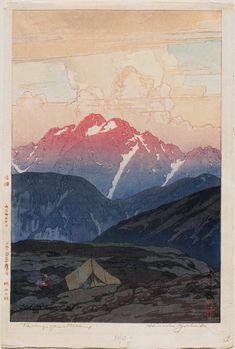 「劔山の朝 日本アルプス十二題」Tsurugizan - Morning, Twelve Scenes in the Japan Alps - 大正15(1926)年