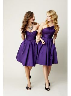 Short purple bridesmaid dresses. I want one to wear on a Cruise!