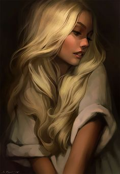 Mor [Golden hair by Tsvetka on DeviantArt] Reminds me of aelin from throne of glass Character Inspiration, Character Art, Character Concept, A Court Of Mist And Fury, Throne Of Glass Series, Golden Hair, Digital Art Girl, Fantasy Girl, Anime Fantasy