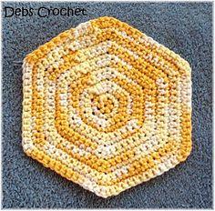 Single Crochet Hexagon from Deb's Crochet