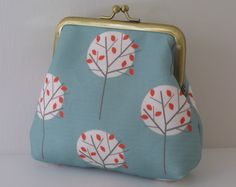 Moonlight Tree purse in Sea Green by ThirtyfiveFlowers on Etsy, £20.00
