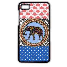 Elephant Aztec Floral Art TATUM-3870 Blackberry Phonecase Cover For Blackberry Q10, Blackberry Z10