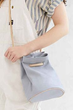 Silence + Noise Minimal Leather Bucket Bag