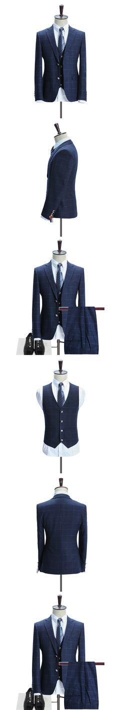 Free shipping 2017 new style suit men High quality stripe wool wedding suits men,blazer men,wedding dress,business men's suits