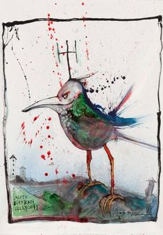 South Eastern telly chat. Whoever heard of such a bird? Probably only Ralph has.  - © Ralph Steadman