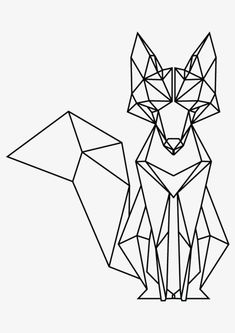 Tattoo Geometric Fox Origami 67 Ideas For 2019 Geometric Fox, Geometric Drawing, Geometric Designs, Geometric Lines, Geometric Tattoos, Geometric Origami, Origami Design, Tape Art, Animal Coloring Pages