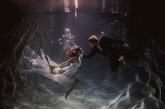 Dramatic Underwater Engagement Shoot from Shaun Menary Photography