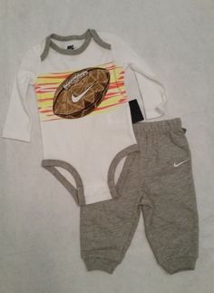 ac5ebb1df Details about NWT Nike Baby Boy 2-Pc ASSORTED Bodysuit & Pant Sets 0-3, 3-6,  6-9, 9-12 Mo