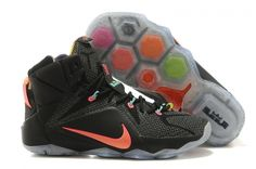 sports shoes a8d5b 2bd96 Original Womens Nike LBJ 12 Data Black Total Orange Nike Lebron, Lebron 11,  Nike