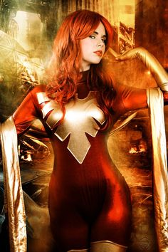 Character: Phoenix 'aka' Jean Grey Extraterrenial Clone. Version Endsong. X- Men Marvel Comic Series.Cosplayer: White Lemon. Photography: Carlos Diez.