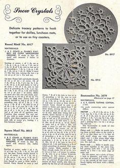 1940's tatting motifs by blueprairie, via Flickr