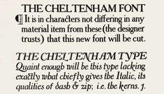 Bertram Goodhue and refined by Morris Fuller Benton Typeface: Cheltenham 1902-1915