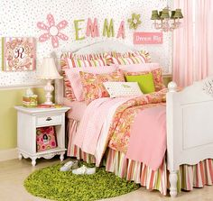 2013 cute bedroom design for little girls – decoration ideas . bedroom for little girls Girls Bedroom Design Ideas for a Stylish Litt. Girls Bedroom, Teenage Girl Bedrooms, Little Girl Rooms, Bedroom Decor, Bedroom Ideas, Bedroom Designs, Dream Bedroom, Baby Girl Room Themes, Baby Rooms