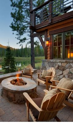 Cozy outdoor seating with a stunning view