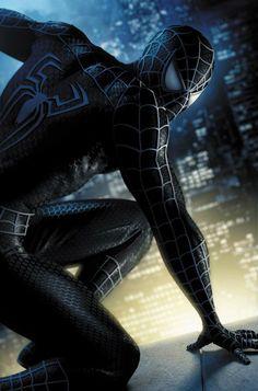 Spiderman from digital artist Jeremy Roberts marvel superhero Black Spiderman, Amazing Spiderman, Venom Spiderman 3, Marvel Comics, Bd Comics, Marvel Heroes, Avengers, Black Suit Men, Comic Manga