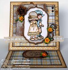 """Stamping card: Sarah Kay """"Sweet Romance"""""""