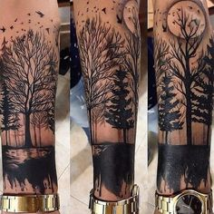 Best Cross Tattoos and Designs for Men and Women - Millions Grace - Top 100 Gorgeous Tattoo Ideas And Designs For Men - Forest Tattoo Sleeve, Forest Forearm Tattoo, Nature Tattoo Sleeve, Wolf Tattoo Sleeve, Cool Forearm Tattoos, Best Sleeve Tattoos, Tattoo Sleeve Designs, Tattoo Designs Men, Badass Tattoos