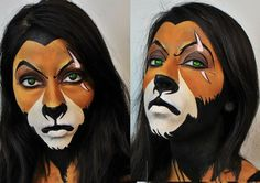 Halloween Makeup - Disney Villain Series: Scar (The Lion King) How To Disney Villains Makeup, Disney Villain Costumes, Disney Makeup, Disney Halloween Makeup, Ideas Maquillaje Carnaval, Maquillaje Halloween, Lion King Play, Lion King Jr, Costume Halloween