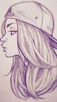 drawings cool drawing sketches easy girly sketch pencil cartoon