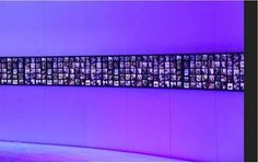 Photo Ribbon: light box using fluorescent light tubes with translucent pictures covering it Fluorescent Tube Light, Lighting System, Event Decor, Ribbon, Rooms, Studio, Box, Cover, Pictures