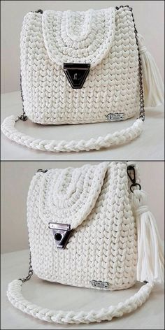 40 Free Crochet Patterns And Ideas For Bags, Purses, And More - Diy & Craft Crochet Adult Hat, Crochet Shoes, Crochet Yarn, Crochet Clothes, Crochet Stitches, Free Crochet, Crochet Handbags, Crochet Purses, Handbag Patterns