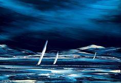 Artwork view of Moon Dance by Duncan Macgregor. Wave Dance, Moon Dance, Duncan, Most Popular Sites, Limited Edition Prints, Framed Art, Sailing, Sculptures, Waves